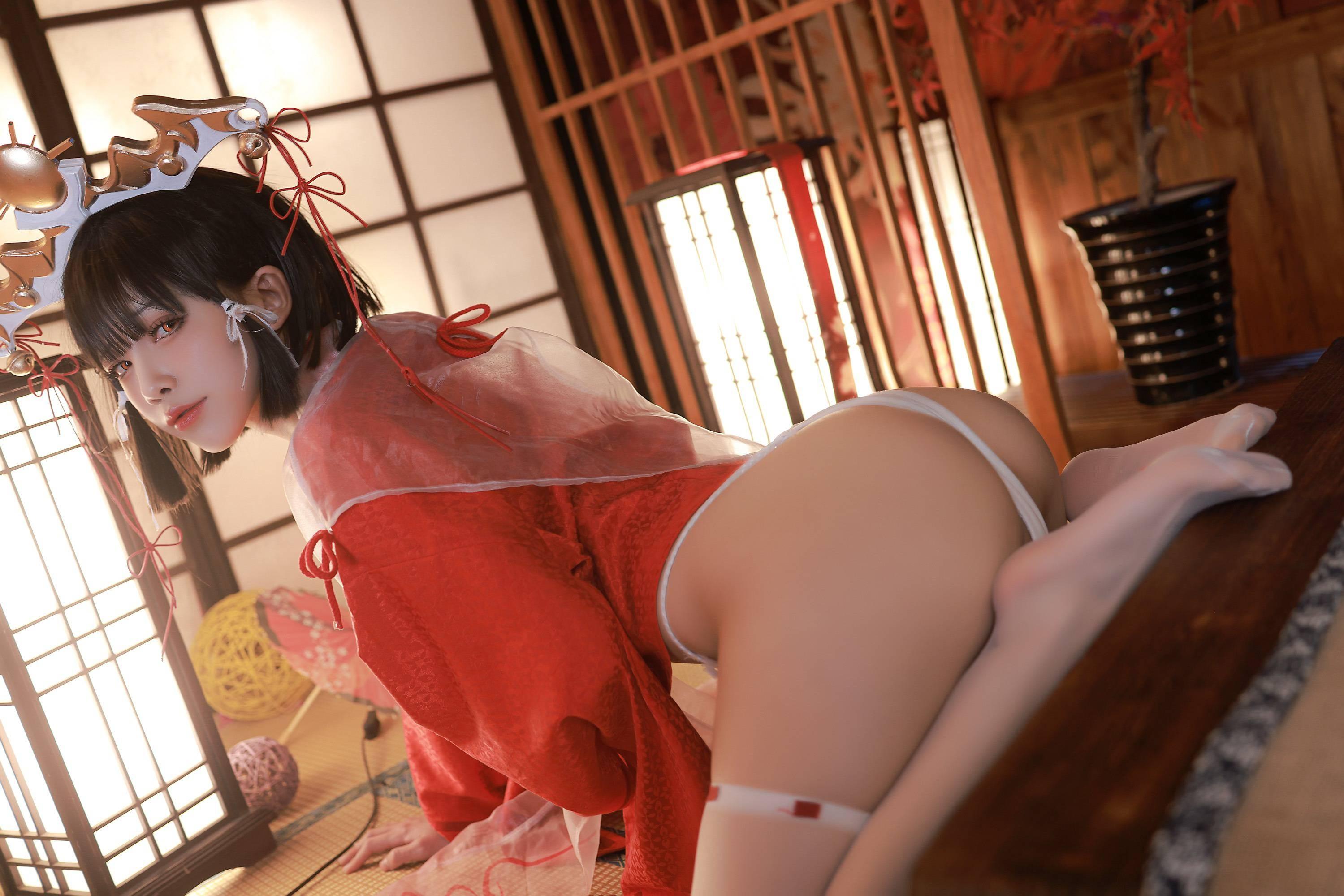 雨波HaneAme黑兽辉夜巫女02 (1)