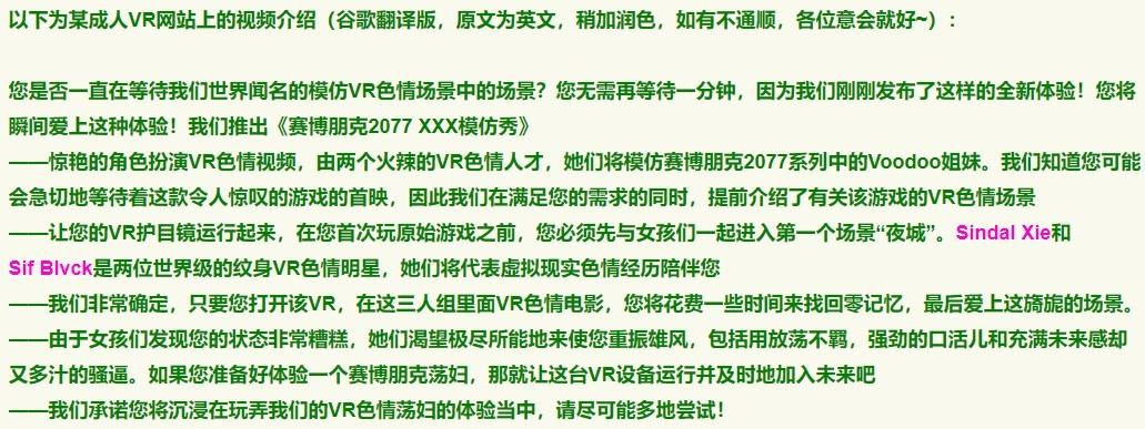 赛博朋克2077 XXX模仿秀 (6)